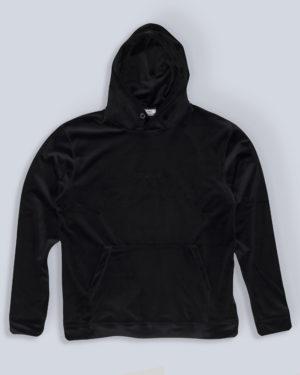 Sami velour hoodie black